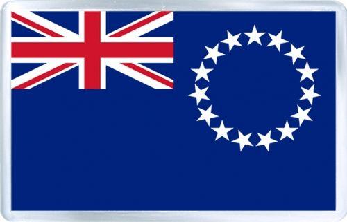 $3.29 - Acrylic Fridge Magnet: Cook Islands. Flag of Cook Islands