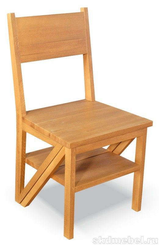 """Стул-стремянка (массив сосны, старение) - Производство мебели - мебельная компания """"СКД"""""""