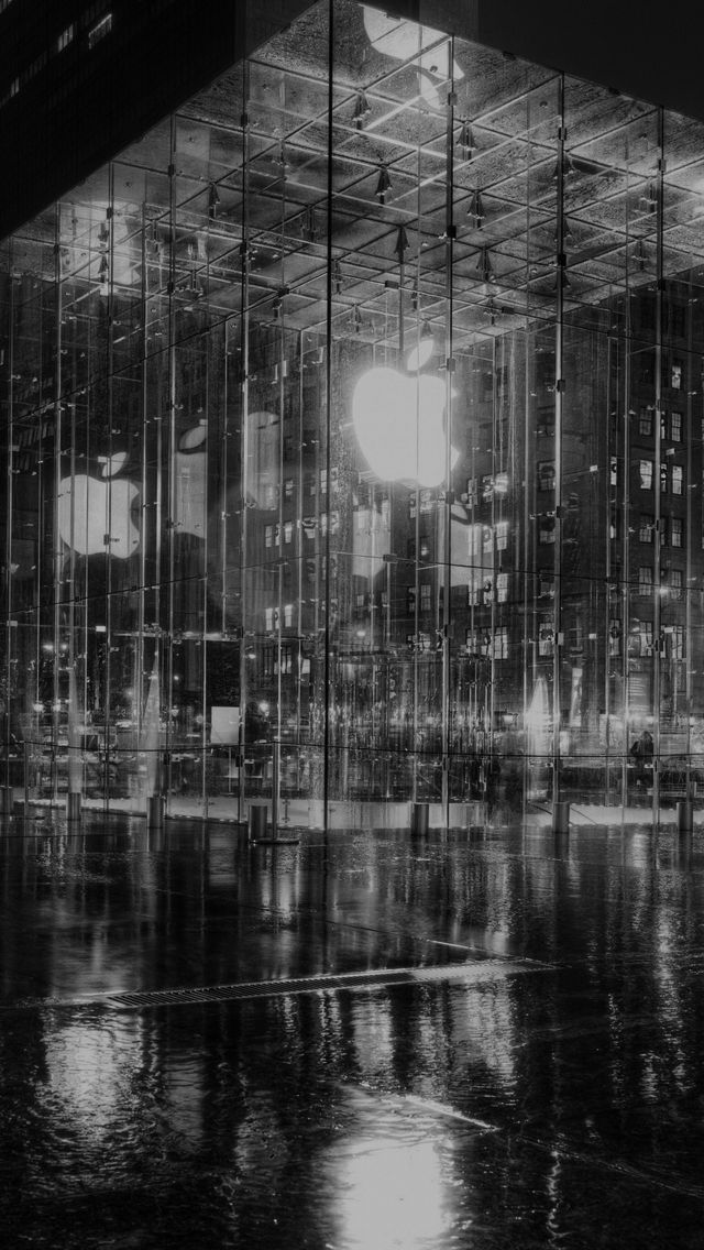 Download Free Hd Wallpaper From Above Link Newyork New York Newyork Apple Store Night Architecture Apple Store Wallpaper Apple