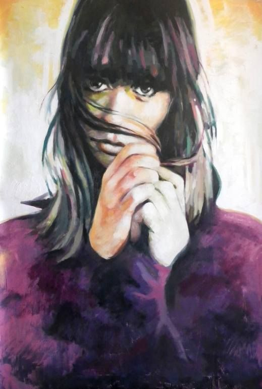 Purple jumper, Thomas Saliot