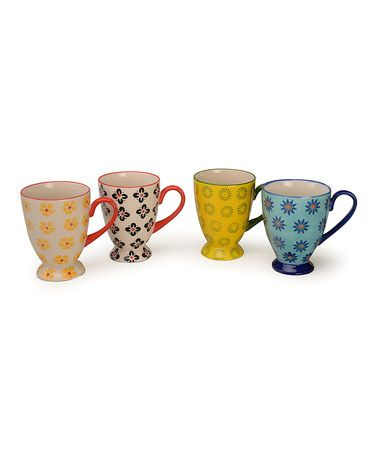 This Modern 15-Oz. Mug Set by Signature Housewares is perfect! #zulilyfinds