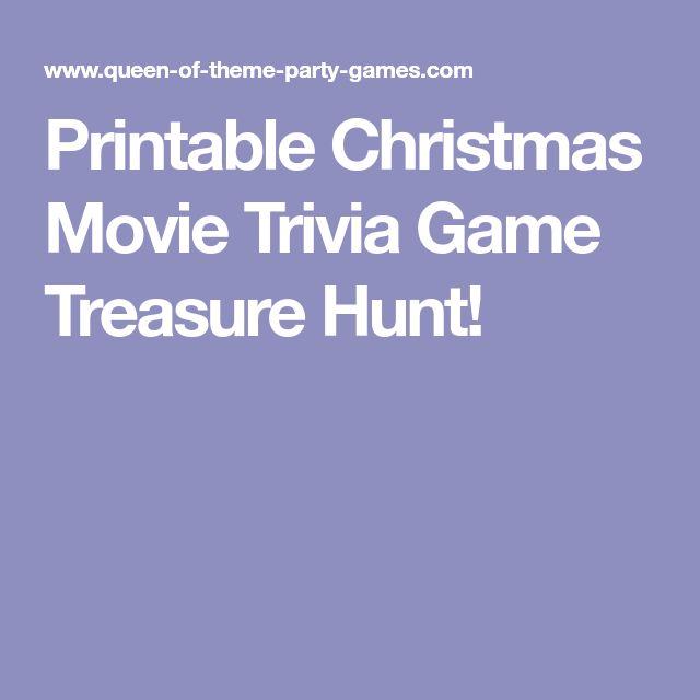 Printable Christmas Movie Trivia Game Treasure Hunt!