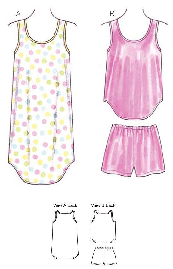 K3645 Misses' Sleepwear