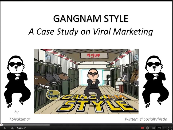 ' Gangnam Style ' - A Case on Viral Marketing in Social Media    Most Creative Presentation Ever .  Re-Pin ! Re-Pin !! Re-Pin !!!    by @Socialwhistle