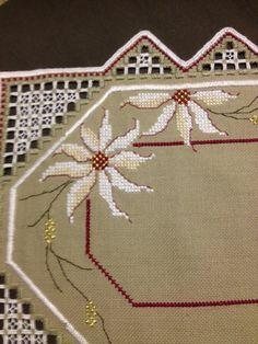 Handmade Beautiful Christmas Hardanger embroidered por Inspiria