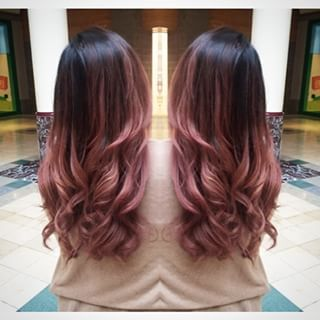 pink highlights in brown hair - Google Search