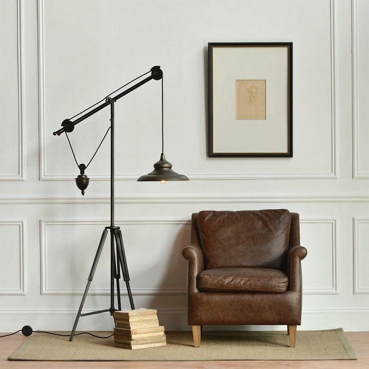 The 25 best pottery barn floor lamps ideas on pinterest pottery wonderful pulley task floor lamp with warren table pottery barn and 3 o on in pulley mozeypictures Gallery