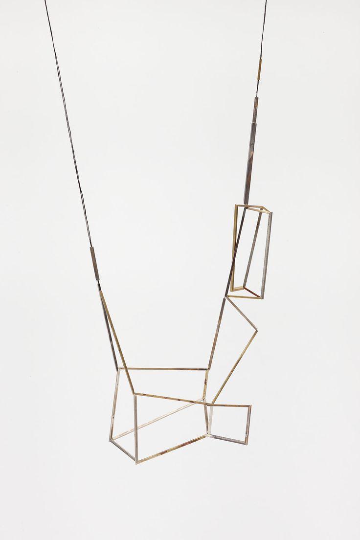 // Emma Price  'Necklace 6′  silver, brass, copper, gold  2010