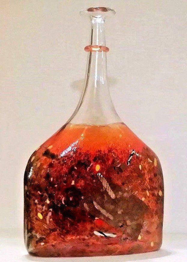 Bertil Vallien KOSTA BODA Signed Numbered Red SATELLITE Bottle Vase FREE US Ship  | eBay