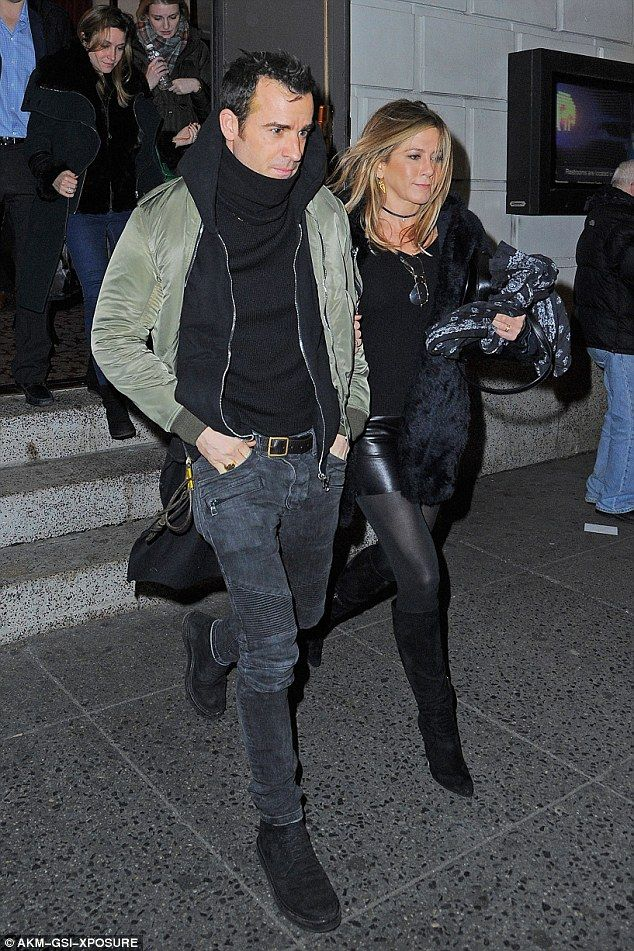 Date night:Jennifer Aniston and Justin Theroux decided to enjoy a romantic date night on Wednesday, heading to the Richard Rogers Theatre on Broadway in New York to watch the musical, Hamilton