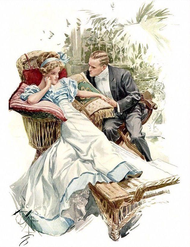 Открытки с изображением мужчины и женщины
