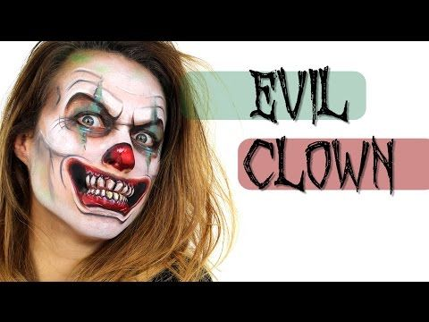 Scary Clown Face Painting | Ashlea Henson - YouTube