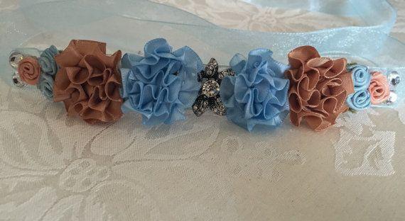 La Corsaire ribbon bun wrap  flower bun crown  hair bun wrap