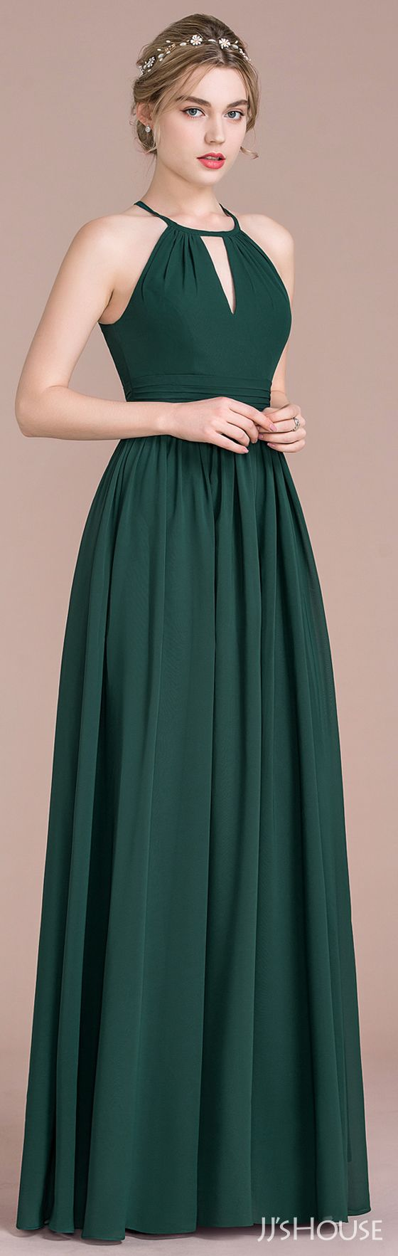 The last person thought this would be a good bridesmaid dress. I think it would make an equally good evening gown with out the wedding attached.