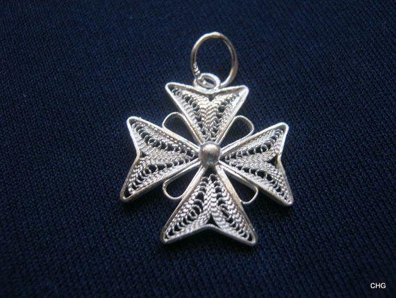 Handmade Sterling Silver Maltese Cross Filigree by TrulyFiligree, $10.00