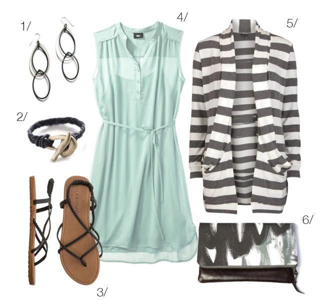spring outfit - mint + greys - via megan auman