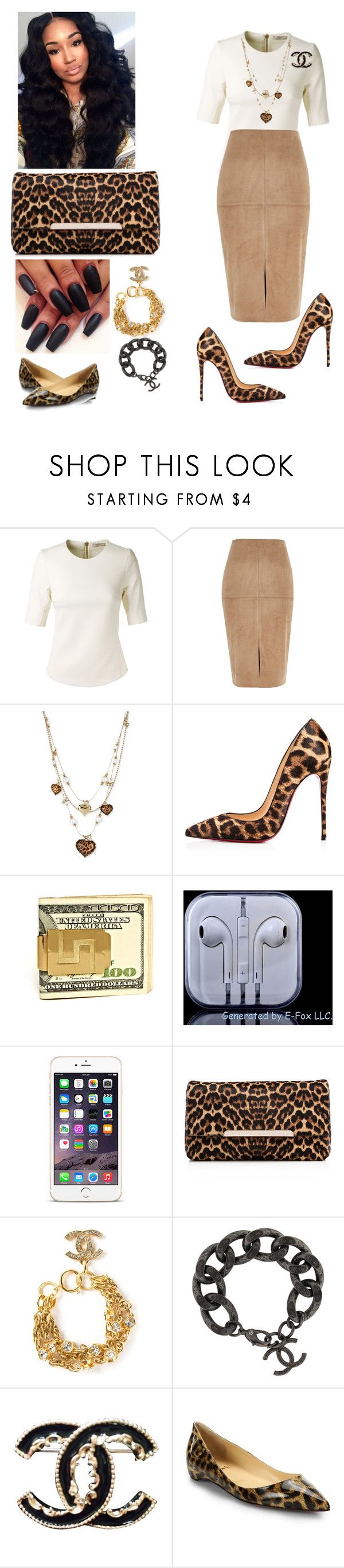 """""""Youth Service"""" by cogic-fashion ❤ liked on Polyvore featuring Bouchra Jarrar, River Island, Betsey Johnson, Christian Louboutin and Chanel"""