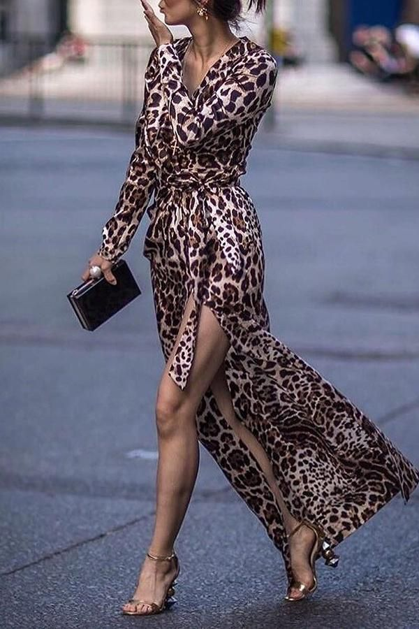 Party Animal Print Maxi Dresses