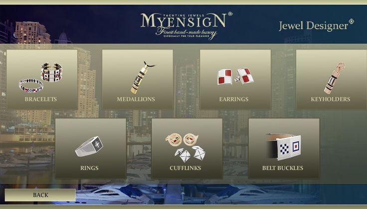 MyEnsign Yachting Jewels - Jewel Designer #myensign #nautical #jewelry #AppleStore #gold #diamonds
