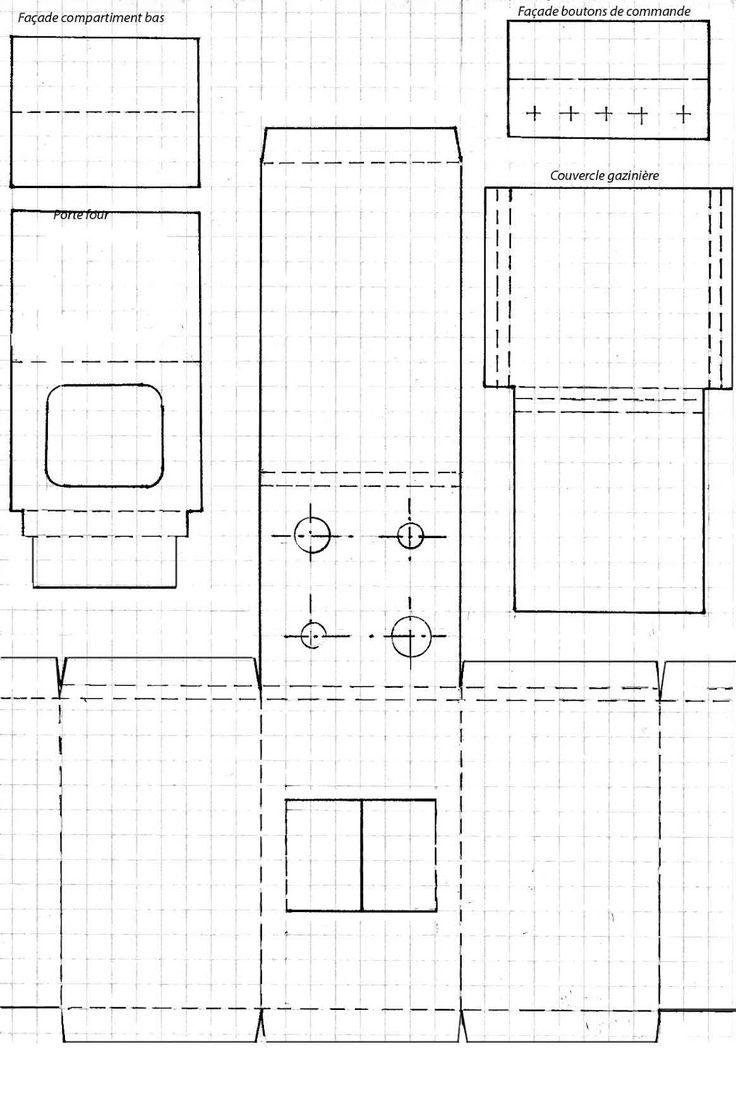 (le mobilier d'Emilie)         En taille réelle, il s'agit d'une petite gazinière de dimension 50*50 et 76 cm de haut (sans le couvercle),...