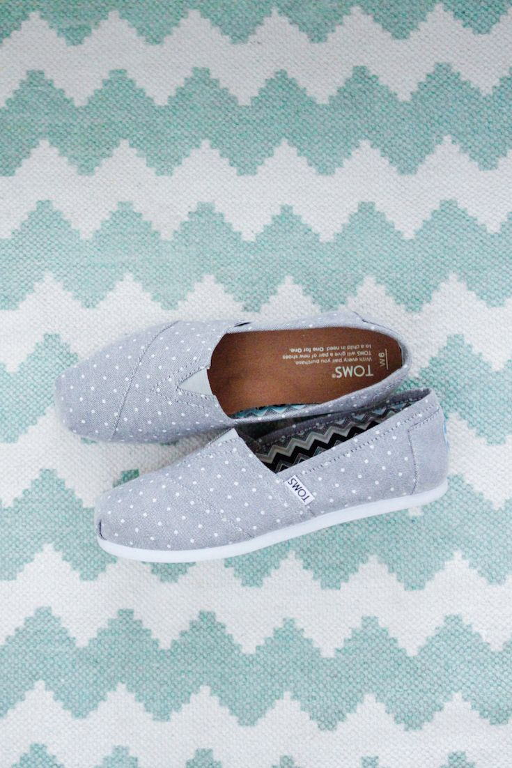 Pattern play in our TOMS Polka Dot Classics.