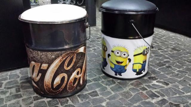 Banqueta tonel tambor assento banco decoração