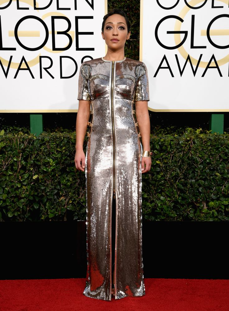 Ruth Negga in Louis Vuitton:  Golden Globes 2017: The Best Dressed Celebrities from the Red Carpet | VOGUE
