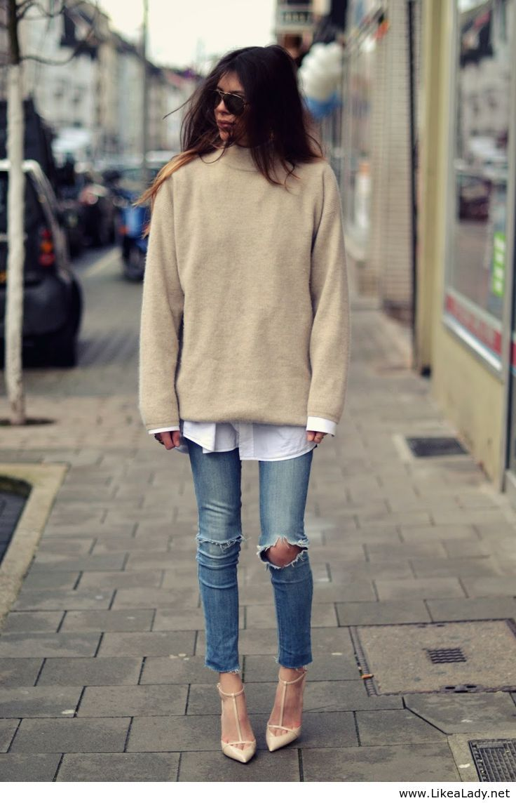 Street look with jeans for girls