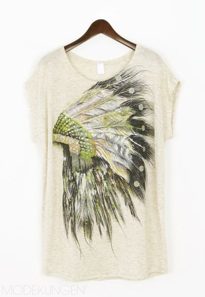 T-shirt - Feather - T-shirts & Tanks - Women - Modekungen | Clothing, Shoes and Accessories