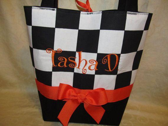 handmade custom racing checkered flag back by creativesewing2, $34.99