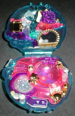 1996 - Polly Pocket Bubbly Bath - Sparkle Surprise - Bluebird Toys aka Polly's Crystal Bubble Compact Mattel #16826