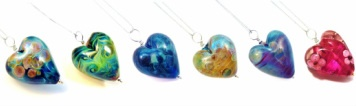 Handmade venetian glass heart pendants from Kin Kin Beads. My favourite is the purple <3