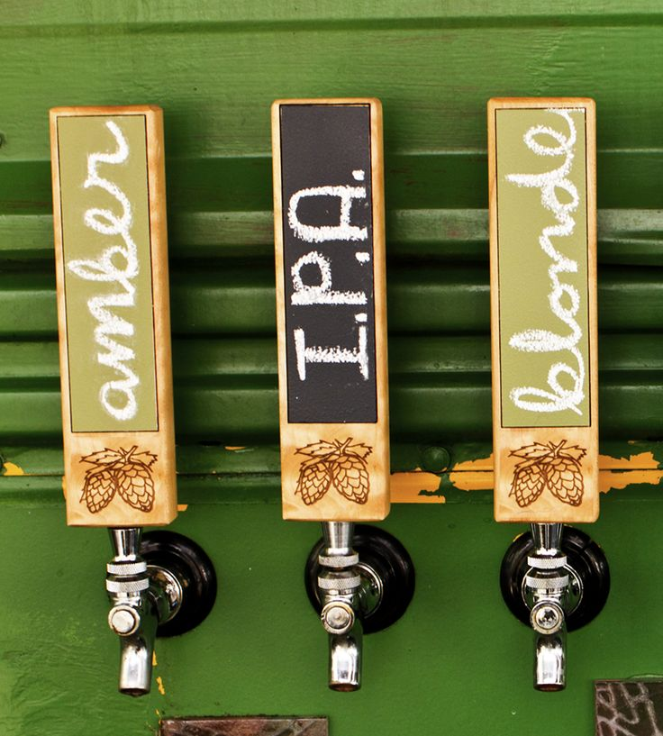 Add this handsome wood tap handle to your bar set-up and you'll be the talk of the town. Of course, you'll be too busy drinking beer in the comfort of your own home to notice. And if you're the sort that likes to change things up every once and awhile, this handle is painted with chalkboard paint, so you can swap the names out as quickly as you're drinking 'em.