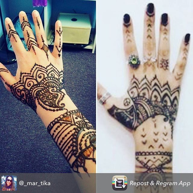 Henna repost from a duo of sisters who came to the studio to get their henna on for the @badgalriri Rihanna concert thanks for the great pic @_mar_tika  #henna #hennas #tattoo #tattoos #rihanna #rihannaconcert #detroit #thepalace #drake #mehndi #ypsilanti #ypsi #kellycaroline #hennadesign #ink #inked #inkedgirl