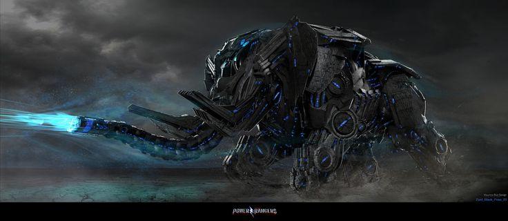 Power Rangers - Black Mastodon Zord, Mauricio Ruiz Design on ArtStation at https://www.artstation.com/artwork/W9eEv
