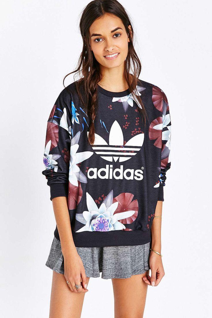 adidas Lotus Print Sweatshirt - Urban Outfitters | Clothes ...