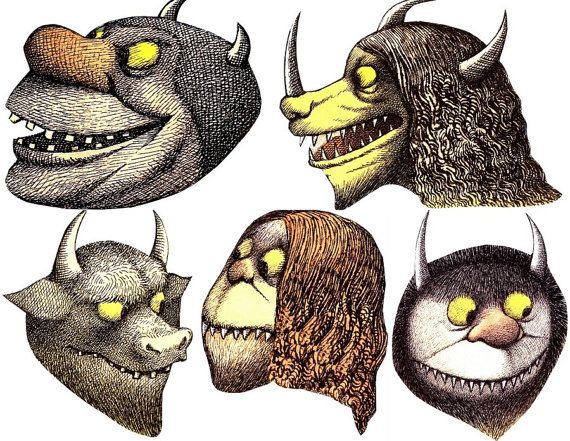 Where the Wild Things Are Masks PDF instant download- Character Images