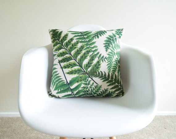 Welcome to SimplySkandi :)  Pattern: Leaf Design in Refreshing Green Colours  Item: Decorative Cushion Cover (insert not included) Product