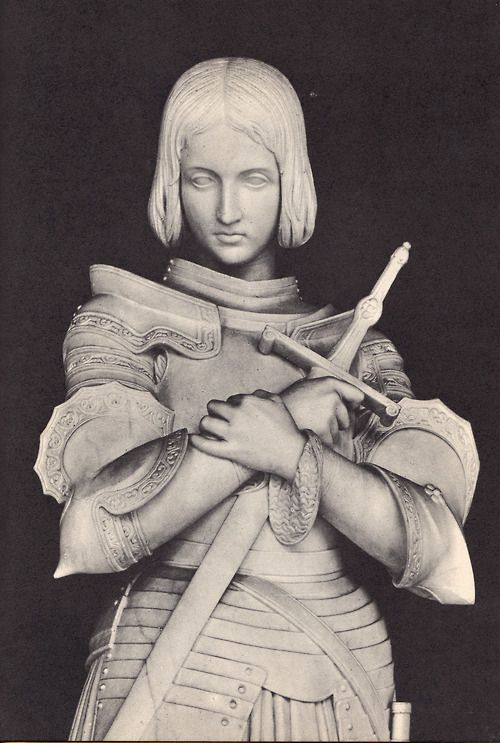 Marble statue of Joan of Arc at Versailles