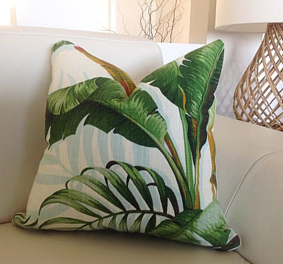 Cushions Tropical Pillows, Palmier Tropical Cushion Covers, Green Cushions, Scatter Cushion, Green Pillow, Palms.