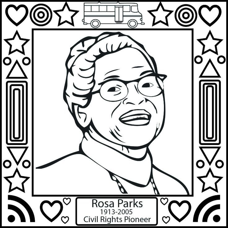 black history month rosa parks coloring page
