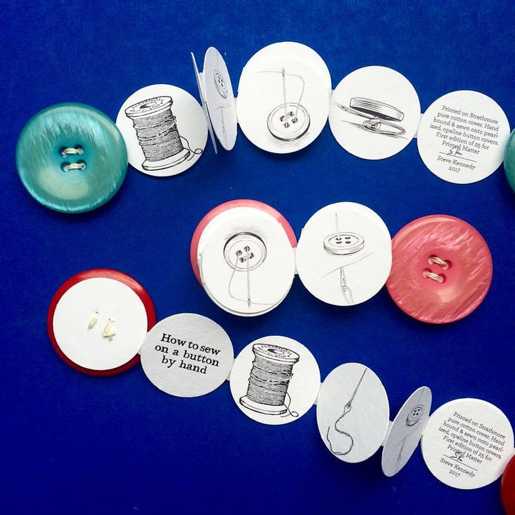 """: """"How to Sew a Button by Hand by Steven Kennedy. Hand bound and sewn onto pearlized, opaline button…"""""""