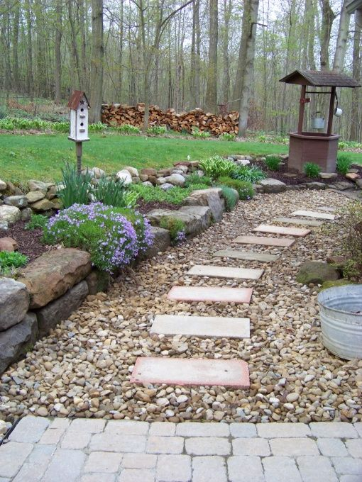 17 best garden design ideas images on pinterest garden for Country landscaping ideas