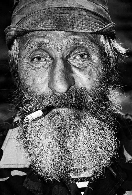 Old Man With Cigarette by Igor Philipenko