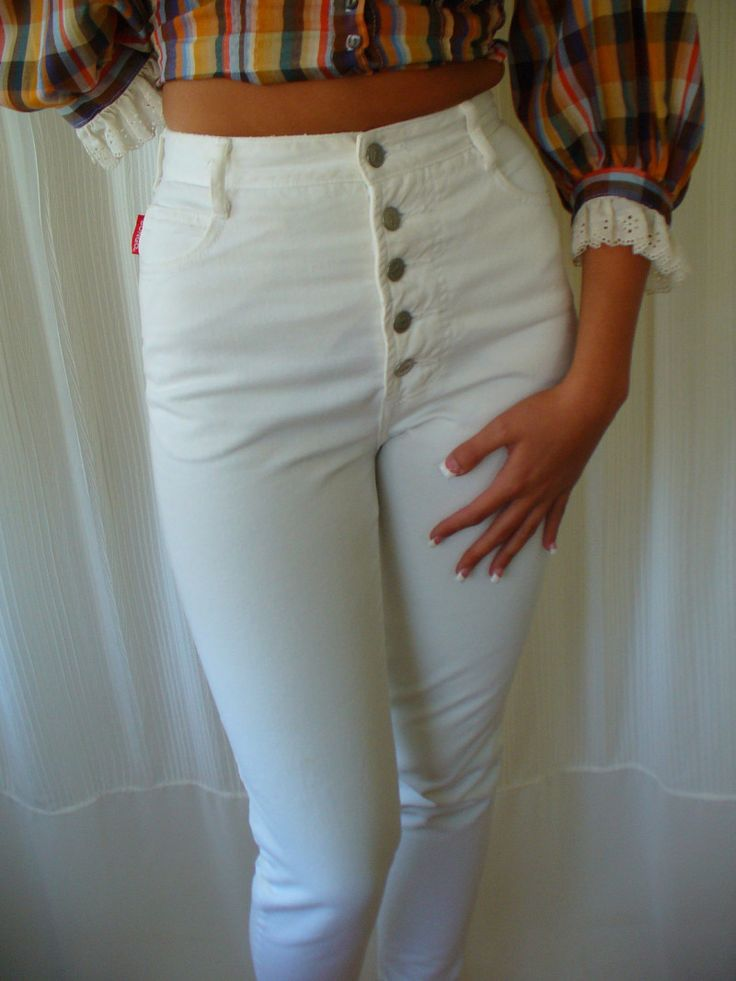 Good Looking White High Waisted Jeans