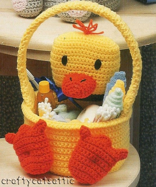 Crochet Duck Basket