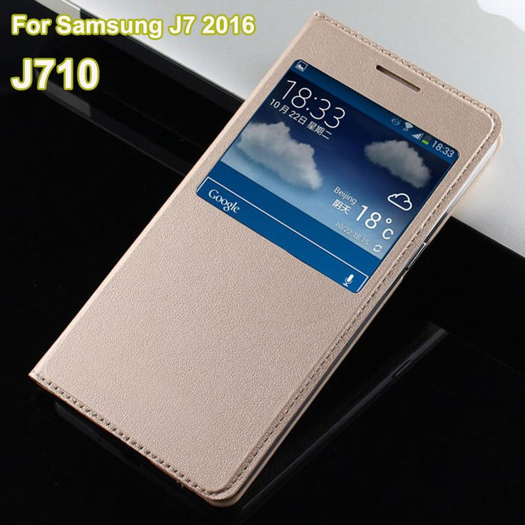 For Hoesje Samsung J7 2016 Case Luxury Open Window View Flip Leather Case Coque For Samsung Galaxy J7 2016 J710 Cover Funda Para #Affiliate