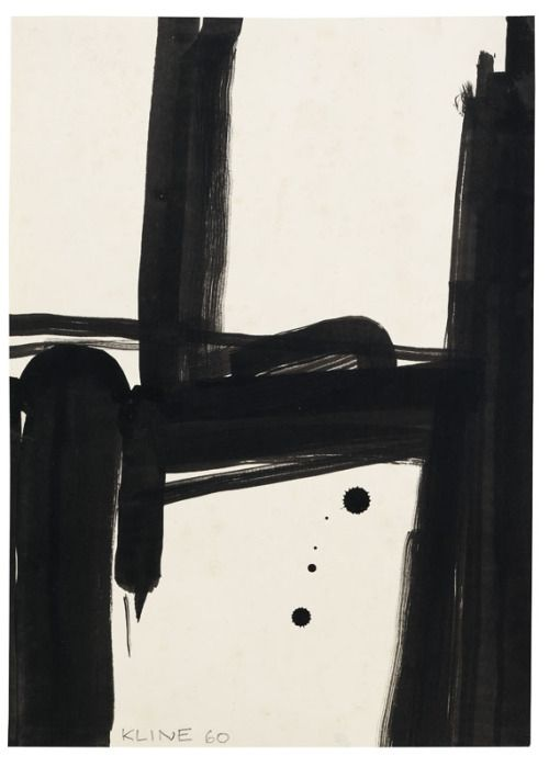 "Study for ""Black and White No. 2"" Franz Kline, 1960"