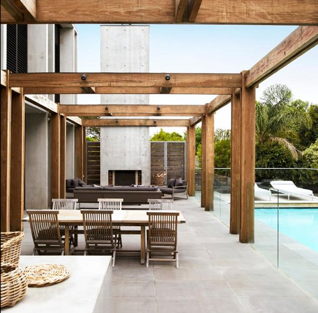 outside patio and pool