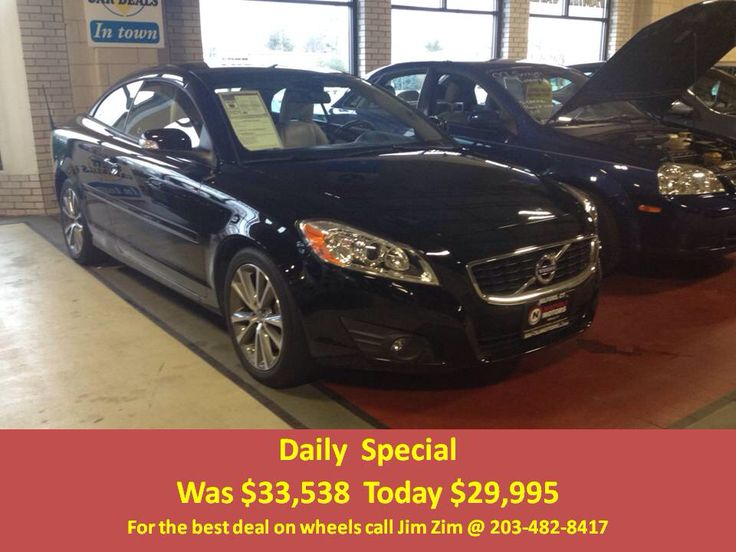2013 Volvo C70 T5 Hard top convertible, Leather, BT only 23k miles! For the best deal on wheels call Jim Zim @ 203-482-8417